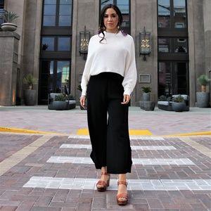 Pants - The Phoebe Wide Leg Pant in Black